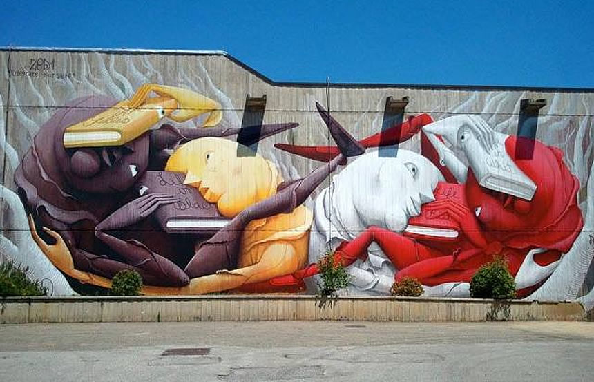poggibonsi streetart murales politica. Black Bedroom Furniture Sets. Home Design Ideas
