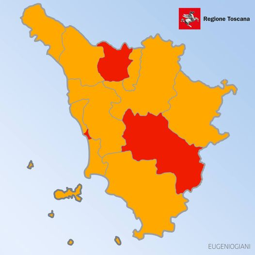 Province di Pistoia e Siena zone rosse - TGR Toscana